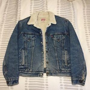 Vintage Levi's Trucker-style Sherpa Jacket
